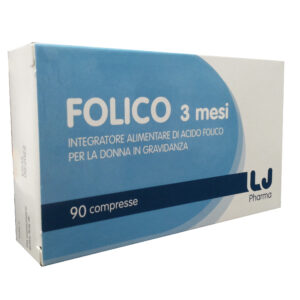 LJ Pharma Folico 3 mesi Integratore Alimentare Gravidanza 90 compresse