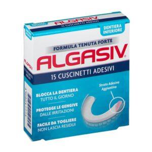 Algasiv Cuscinetti Adesivi Dentiera Inferiore 15 pz