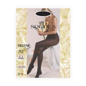 Solidea Selene Opaque Calze Collant 70 Denari 12/15 mmHg Preventiva Tg 4-L Nero