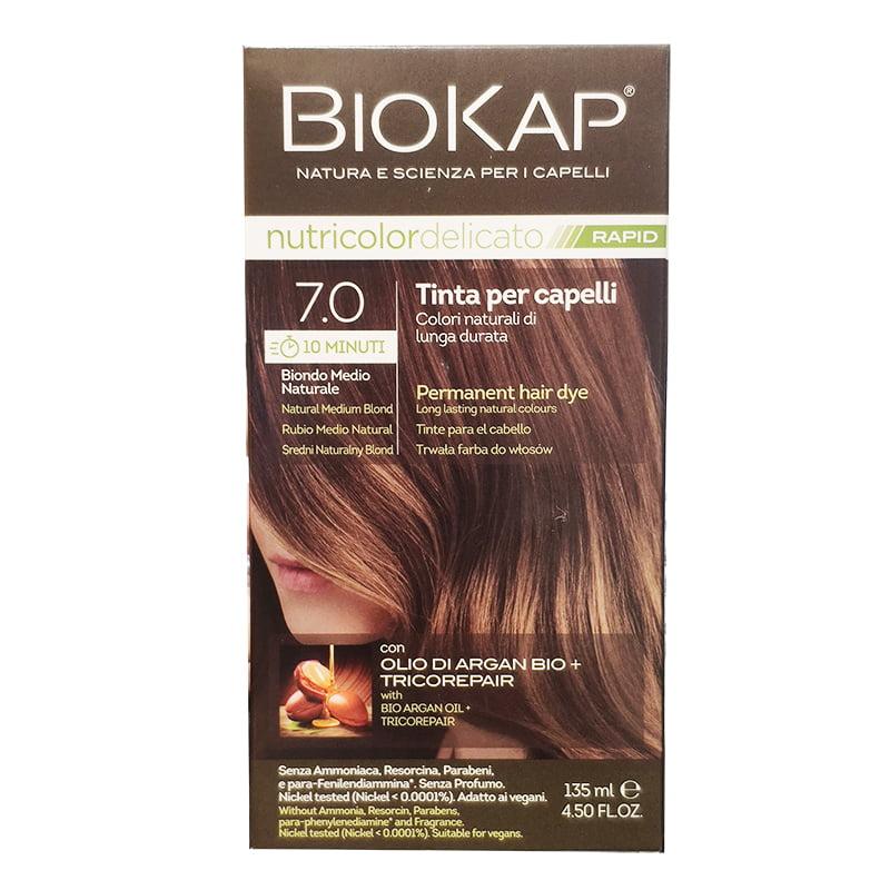 BioKap Nutricolor Delicato Rapid 7.0 Biondo Medio Naturale