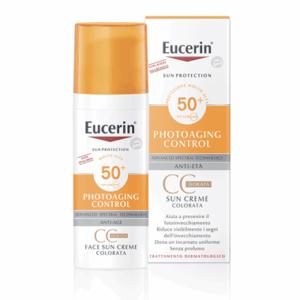 Eucerin Photoaging Control Sun Creme CC Dorata Anti-Età SPF 50+ 50ml