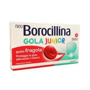 NeoBorocillina Protezione Gola Junior 15 Pastiglie Gommose Gusto Fragola