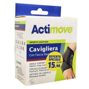 Actimove Sports Edition Cavigliera con Fascia Elastica Taglia L (23-25.5cm)