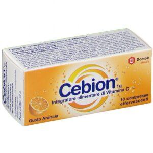 Cebion 1g Vitamina C Gusto Arancia 10 cpr effervescenti