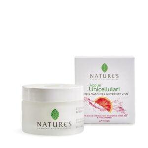 Nature's Acque Unicellulari Crema Maschera Nutriente Viso 50ml