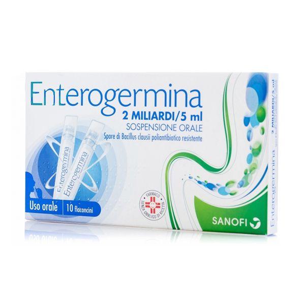 Enterogermina 10 flaconcini 2mld / 5ml