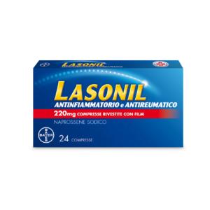 Bayer Lasonil Antinfiammatorio e Antireumatico 220mg Naprossene Sodico 24 Cpr Rivestite