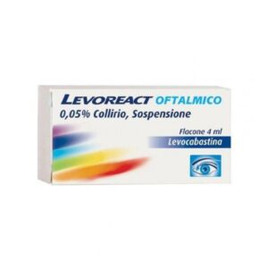 Levoreact Collirio 4 ml 0,5 mg
