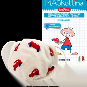 Buona Maskottina Mascherine Filtranti Protettive Lavabili Bambini 3 pezzi