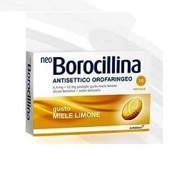 NeoBorocillina Antisettico Orofaringeo Gusto Miele Limone 16 pastiglie