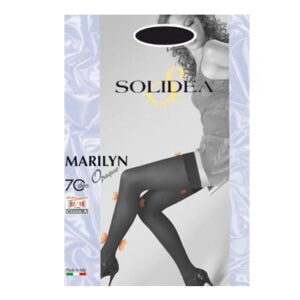 Solidea Modello Marilyn 70 Denari Opaque Autoreggenti Colore Nero Tg 2 M