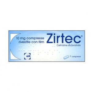 Zirtec 7 compresse 10 mg