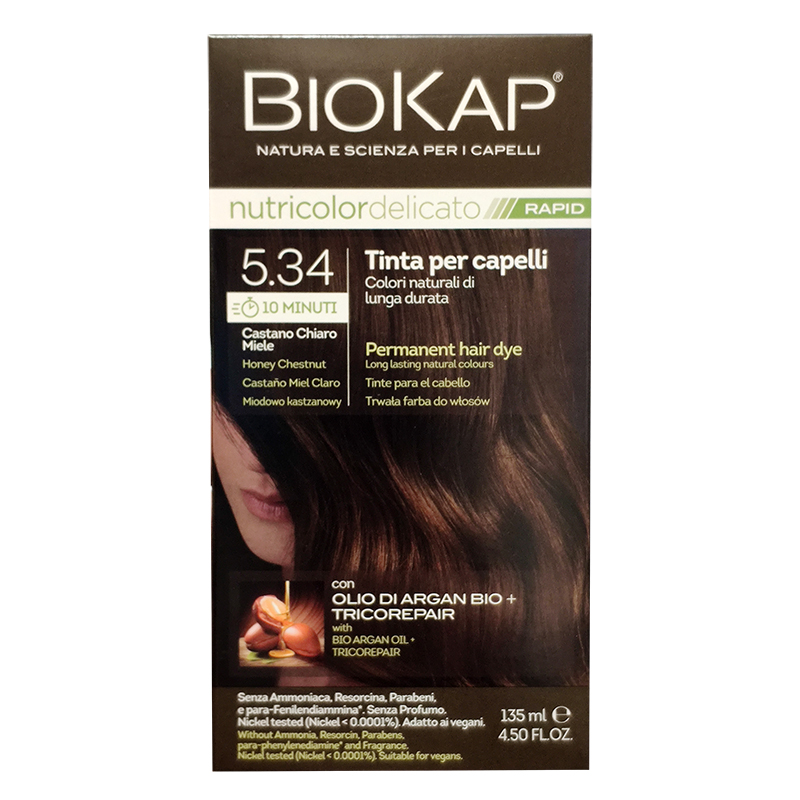 BioKap Nutricolor Delicato Rapid 5.34 Castano Chiaro Miele