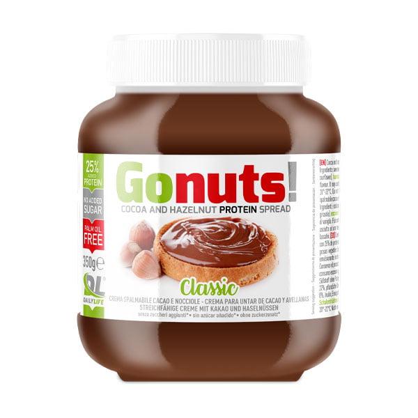 Gonuts ! Classic Crema Spalmabile Proteica Gusto Cioccolato e Nocciola 350g