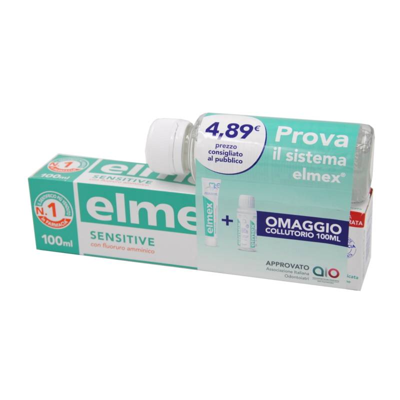 Elmex Sensitive Dentifricio 100ml + Collutorio 100ml