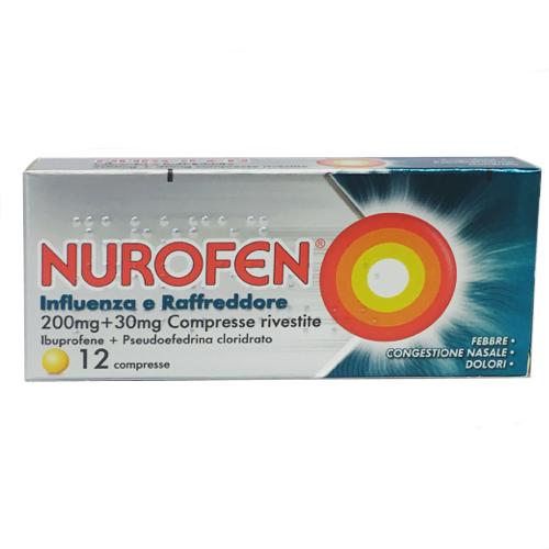 Nurofen influenza e raffreddore 12cpr