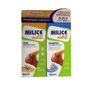 Milice Pido k.O. Kit Olio Anti-Pediculosi 75 ml + Shampoo 150ml