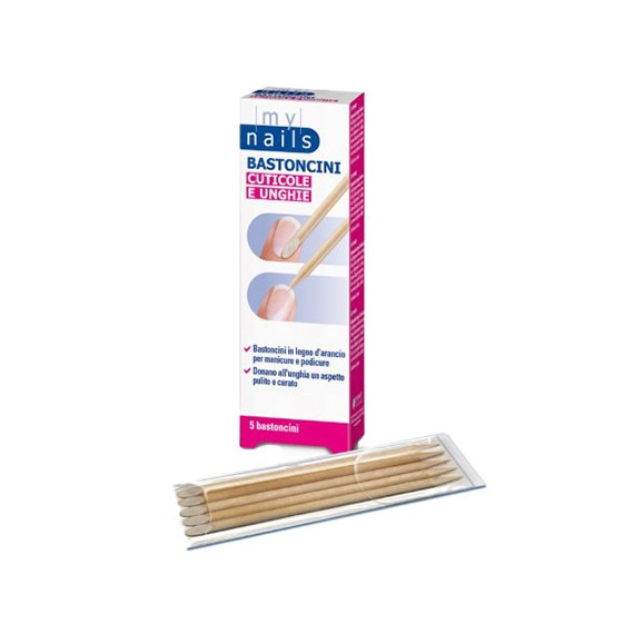 MyNails Bastoncini in legno per Cuticole e Unghie 5pz